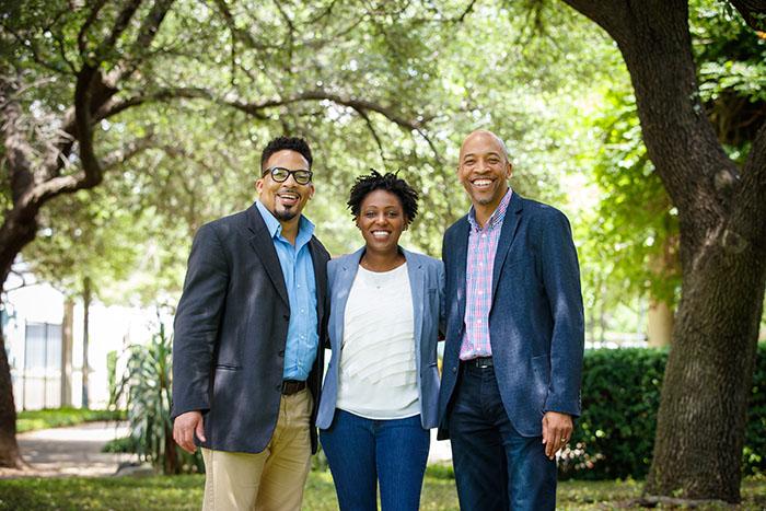 Generation Dallas founding team members Joshua Boyce, Demetra Brown, and Lou Jones